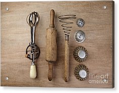 Vintage Cooking Utensils Acrylic Print