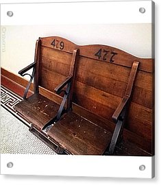Vintage Courthouse Seats Acrylic Print