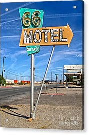Vintage Desert Motel Sign Acrylic Print by Gregory Dyer