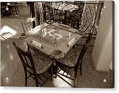 Vintage Domino Table Acrylic Print by David Lee Thompson