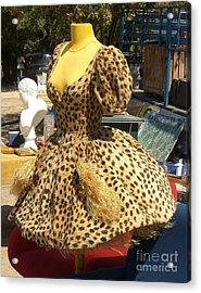 Vintage Dress At Flea Market Acrylic Print by Lainie Wrightson
