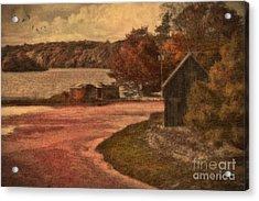 Vintage Farm Acrylic Print by Gina Cormier