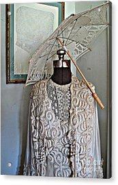 Vintage Fashion Acrylic Print by Louise Peardon