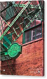Vintage Fire Escape Acrylic Print by Lawrence Burry