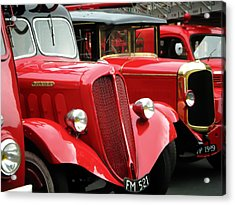 Vintage Fire Trucks Acrylic Print