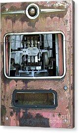 Vintage Gas Pump Acrylic Print by Alan Look