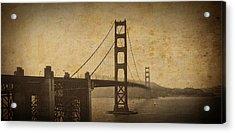 Vintage Grunge Golden Gate Acrylic Print