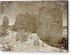 Vintage Hovenweep Castle Acrylic Print by Bob and Nancy Kendrick