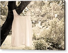 Acrylic Print featuring the photograph Vintage Linen Cami by Brooke T Ryan