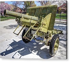 Vintage Military Howitzer  Acrylic Print by Gary Whitton