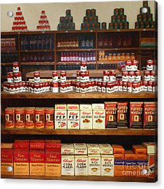 Vintage Mom And Pop Grocery Store - 7d17402 Acrylic Print by Wingsdomain Art and Photography