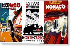 Vintage Monte Carlo Racing Posters Acrylic Print