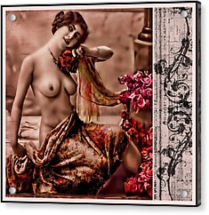 Acrylic Print featuring the photograph Vintage Muse by Mary Morawska