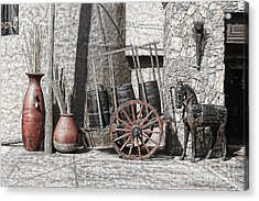 Acrylic Print featuring the photograph Vintage Museum Display by Lawrence Burry