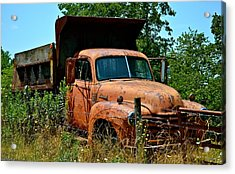 Acrylic Print featuring the photograph Vintage Old Time Truck by Peggy Franz
