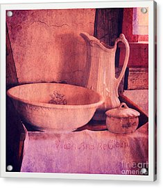 Vintage Pitcher And Wash Basin Acrylic Print