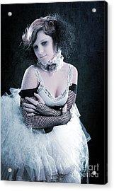 Vintage Portrait Of A Dancer Acrylic Print by Cindy Singleton