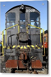Vintage Railroad Trains . 7d11598 Acrylic Print by Wingsdomain Art and Photography