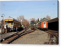 Vintage Railroad Trains In Old Sacramento California . 7d11513 Acrylic Print by Wingsdomain Art and Photography