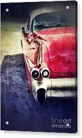 Vintage Red Car Acrylic Print by Jill Battaglia