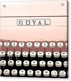 Vintage Royal Typewriter Acrylic Print by Glennis Siverson