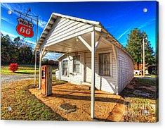 Vintage Rural One Pump Gas Station Acrylic Print by Dan Carmichael