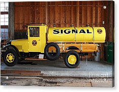 Vintage Signal Gasoline Truck . 7d12935 Acrylic Print by Wingsdomain Art and Photography