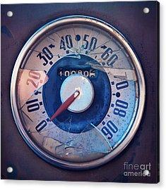 Vintage Speed Indicator  Acrylic Print by Priska Wettstein
