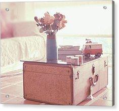 Vintage Suitcase Acrylic Print by Carmen Moreno Photography