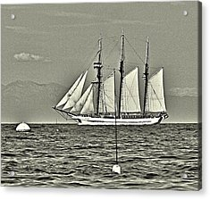 Vintage Tall Ship Acrylic Print by Lauren Serene
