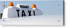 Vintage Taxi Acrylic Print