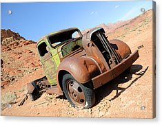 Vintage Truck At Lonely Dell Ranch Acrylic Print