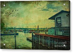 Acrylic Print featuring the photograph Vintage Vermont Harbor by Gina Cormier