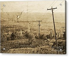 Vintage View Of Ontario Fields Acrylic Print