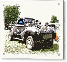 Vintage Willys Gasser Acrylic Print by Steve McKinzie