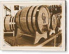Vintage Winery Photo Acrylic Print by Marsha Heiken
