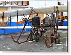 Vintage Wright Brothers Type Airplane . 7d11147 Acrylic Print by Wingsdomain Art and Photography