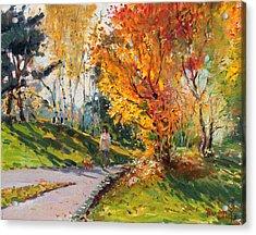 Viola In A Nice Autumn Day  Acrylic Print