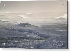 Violent Surf Acrylic Print by Terri Thompson