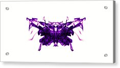 Violet Abstract Butterfly Acrylic Print