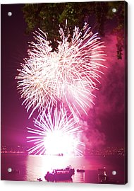 Violet Explosion Acrylic Print