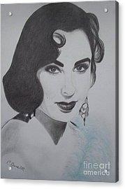 Violet Eyed Beauty Acrylic Print by Christy Bruna