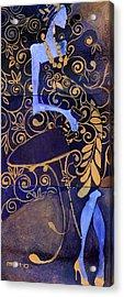 Violet Lady Acrylic Print