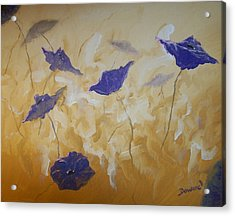 Violet Poppies Acrylic Print