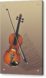 Violin Acrylic Print by Comstock