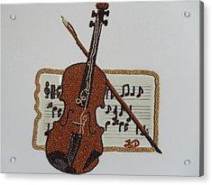 Violin Acrylic Print by Kovats Daniela