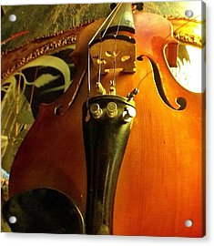 #violin #viola #music #art Acrylic Print