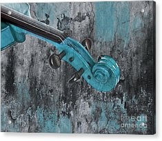 Violinelle - Turquoise 04d2 Acrylic Print by Variance Collections