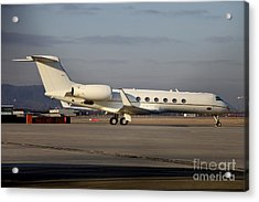 Vip Jet C-37a Of Supreme Headquarters Acrylic Print by Timm Ziegenthaler