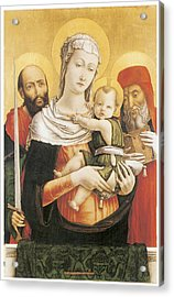Virgin And Child With Saints Paul And Jerome Acrylic Print by Bartolomeo Vivarini